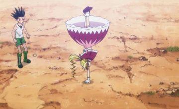 新アニメ版HUNTER×HUNTERでビスケのスカートが重力を無視している
