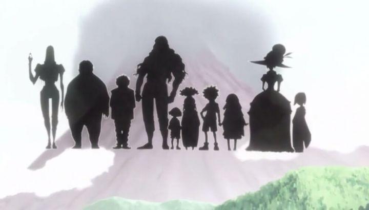 新アニメ版HUNTER×HUNTERでゾルディック家の祖母らしきシルエットが写っている