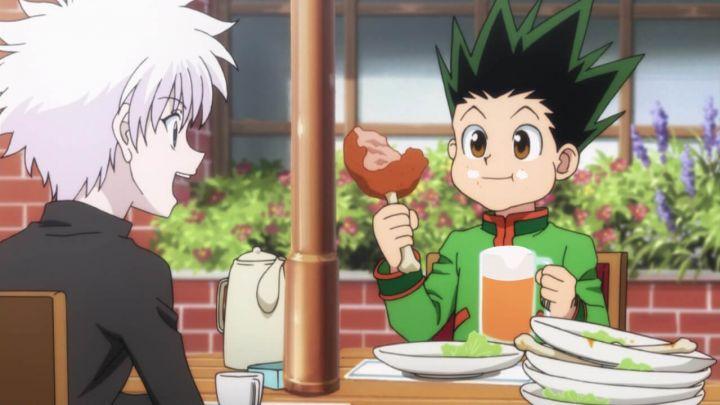新アニメ版HUNTER×HUNTERでゴンが明らかにビールを飲んでる