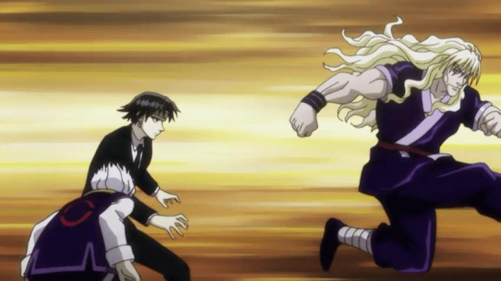 新アニメ版HUNTER×HUNTERでシルバがクロロと戦っている時に欽ちゃん走りをしている